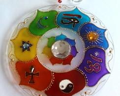 Mandala 7 amuletos em vidro