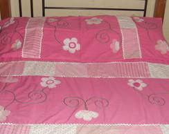 colcha de cama rosa!