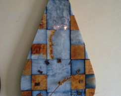 Rel�gio de Parede em Mosaico de M�rmore