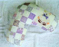 Almofada amamenta��o lil�s c/ urso