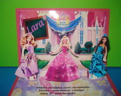 CONVITE POP-UP BARBIE ESCOLA PRINCESAS