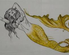 Sereia Dourada e P&B :: S�rie Tatoo