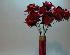 Arranjo de Rosas na Garrafa