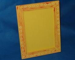 Porta retrato amarelo 21x30 com vidro