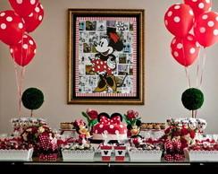 Decora��o de festa infantil Minnie
