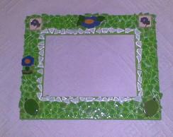 Porta Retrato - Mosaico Verde
