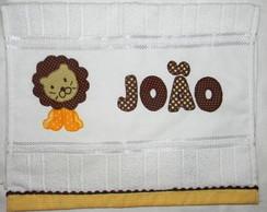 Toalha de m�o bordada le�o