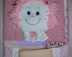 Capa de caderno boneca