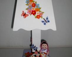 Abajur - Flores lil�s