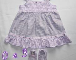 Vestido + Sapato de Beb� Menininha Lil�s