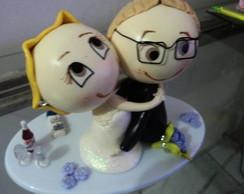 Noivinhos para topo do bolo