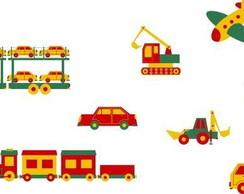 Adesivo Infantil Veiculos de Transporte