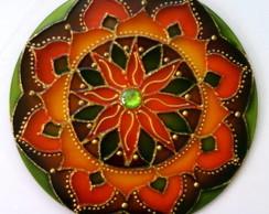 Mandala Laranja marrom e verde