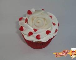Cupcake rosa branca