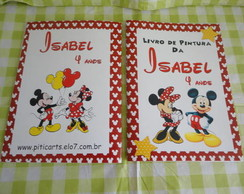 Kit Livrinho de pintura Mickey e Minnie