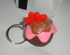 cupcake chaveiro rom�ntico/cupcake keych