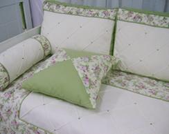 Ref 501 - Kc Floral Verde e Rosa