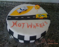 Bolo Decorado Hotwheels