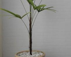 Vaso de planta com borda em mosaico