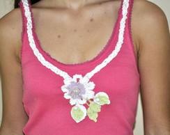 Camiseta  -    Flor de  Croch�