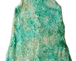 Vestido paet� cores variadas