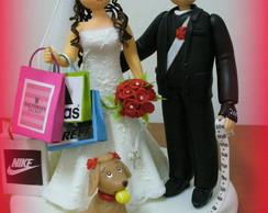 topo de bolo - Casamento da Daniele