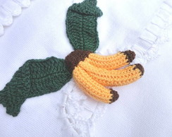Pano de Prato - Bico Crochet Bananas