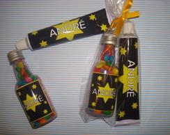 kit garrafa pet com bisnaga de brigadeiro