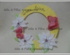 Guirlanda Flores Brancas e Borboletas