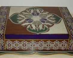 caixa em madeira/mdf/ porta j�ia