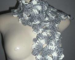 Cachecol em Crochet Waves