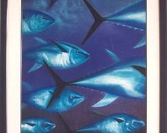Quadro Atum azul