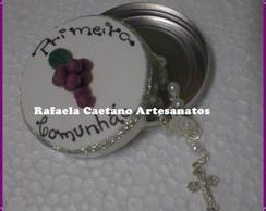 Latinha com tampa decorada para comunh�o
