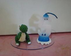 vela topo de bolo dinossauro