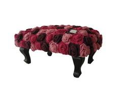 "Banqueta com croch� ""Rosas"""