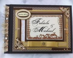 Livro de Mensagens Casamento Moldura