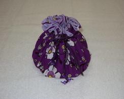 Porta j�ias grande floral roxo