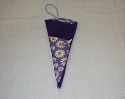Porta tesoura margaridas lil�s