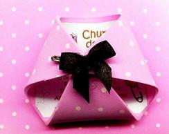 Convite ch� de beb� - Fraldinha de EVA
