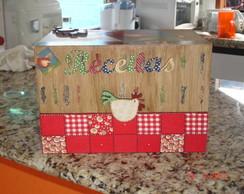 Caixa de receita com divis�rias