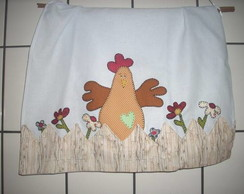 Pano de prato-patchcolagem galinha