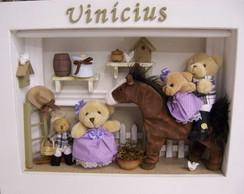 Enfeite Maternidade Fam�lia Urso Country