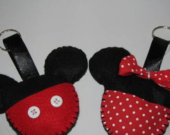 Chaveiro do Mickey e da Minnie