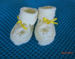 Sapatinho de Beb� Amarelo