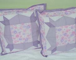 Conjunto Almofadas patchwork lil�s