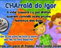 Convite Ch� de Beb� Festa Junina