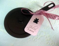 Tags para panelinha urso marrom e rosa