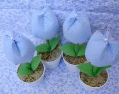 Vasinho com tulipa