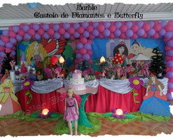 Decora��o de festa barbie