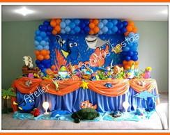 Decora��o de festa Nemo - fundo do mar